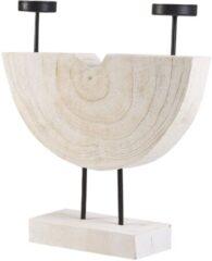 Beliani APANGO - Kandelaar - Lichte houtkleur - Paulowniahout