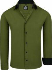 Merkloos / Sans marque Rusty Neal - heren overhemd - basic Kaki