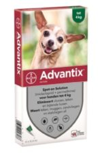 Advantix Spot On 40 0.4 ml - Anti vlooien en tekenmiddel - 4 pip 1.5-4 Kg