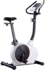Witte VidaXL Hometrainer magnetisch met hartslagmeter