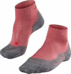 Falke - Women's Falke TK5 Short - Wandelsokken maat 41-42, roze/grijs/rood