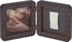 Donkergrijze BabyArt Baby Art My Baby Touch Simple Print Frame Copper Dark
