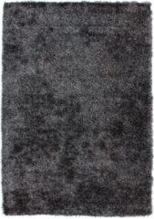 Antraciet-grijze Diamond Soft Rond Vloerkleed Antraciet Hoogpolig - 120x170 CM