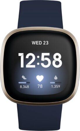 Afbeelding van Gouden Fitbit Versa 3 fitness smartwatch FB511GLNV