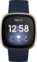 Fitbit Versa 3 smartwatch (blauw/goud)