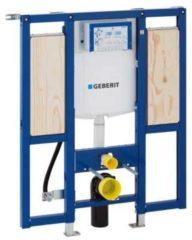 Blauwe Geberit Duofix WC element H112 met reservoir UP320 112cm met armsteunbevestiging excl.iso set 111375005