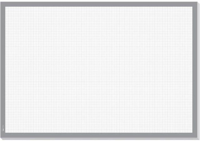 Afbeelding van Sigel Squared HO260 Bureau onderlegger Wit, Grijs (b x h) 595 mm x 410 mm