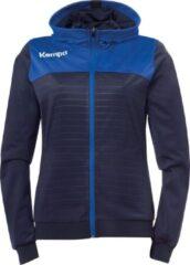 Marineblauwe Kempa Emotion 2.0 Hooded Sportjas - Maat XL - Vrouwen - navy/blauw