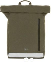Groene Lefrik Reflective Roll Rolltop Laptop Rugzak - Eco Friendly - Recycled Materiaal - 15,6 inch - Olive