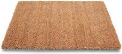 Sorx Bruine deurmatten/buitenmatten pvc/kokos 50 x 80 cm - droogloopmatten/vloermatten