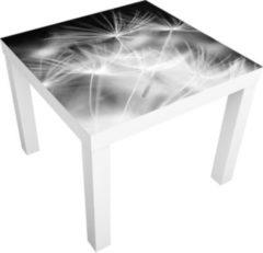 PPS. Imaging Beistelltisch - Bewegte Pusteblumen Nahaufnahme auf schwarzem Hintergrund -... weiss, 55 x 55 x 45cm