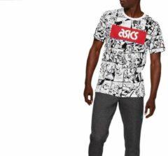 Witte ASICS 2191A260-101 Asics TF M Graphic Heren T-shirt Maat M