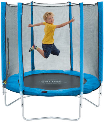 Afbeelding van Blauwe Plum Junior Trampoline 140 cm inclusief veiligheidsnet - Trampoline