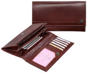 Bruine DR Amsterdam Vegio Damesportemonnee RFID 9cc chestnut Dames portemonnee
