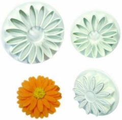 Witte PME Legend Uitsteker Veined Sunflower/ Daisy/ Gerbera PME, set van 3