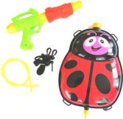 Funny Toys Waterpistool Met Tank 35,5 Cm Rood/groen 5-delig