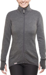 Woolpower - Full Zip Jacket 400 - Wollen jack maat S, grijs/zwart