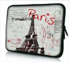 Sleevy 10.1 laptop/tablet hoes postcard Paris grijs - tabletsleeve - tablet sleeve - ipad sleeve