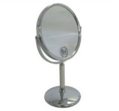 Woodynox spiegel staand verchroomd stainless steel diameter 14 x h28 38,5cm in hoogte verstelbaar 5x vergrotend WO1955