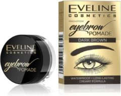 Donkerbruine Eveline Cosmetics Eyebrow Pomade Dark Brown