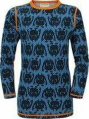 Vossatassar Monster thermo shirt merino wol - ocean