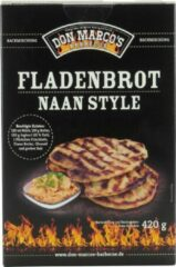 Don Marco's Barbecue Don Marco's Fladenbrot naan style – Broodmix – BBQ – 420 gram