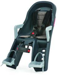 Zwarte Polisport Guppy Mini - Fietsstoeltje Voor - Zwart/Grijs