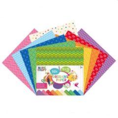 Craft Sensations Origami papier | 15 x 15 CM | 50 vellen | 5 verschillende designs | vouwblaadjes | met printjes op papier | knutselpapier voor kinderen