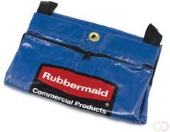 Recyclingzak met universeel symbool - set, Rubbermaid rood, groen, blauw