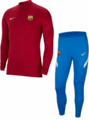 Donkerrode Nike FC Barcelona Dri-Fit Strike Trainingspak Heren