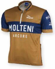 Rogelli Wagtmans Molteni - Wielershirt - Korte Mouw - Bruin;Blauw - Maat L