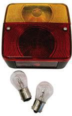 Rode Twinny Load Carpoint Achterlicht Met 4 Functies 12v 110 X 100 X 50 Mm