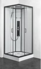 Douche Concurrent Douchecabine Allibert Uyuni Vierkant 90x90x225cm Helder Glas Antikalk Mengkraan Hoofddouche en Handdouche