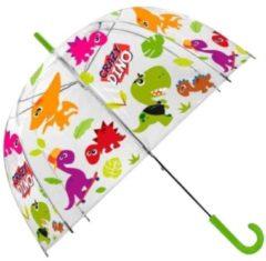 Transparante Kids Licensing paraplu Crazy Dino 48 cm polyester