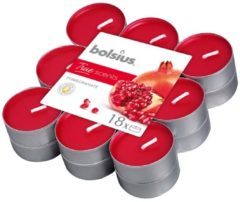 Rode Bolsius Aromatic Standard Bolsius Geurtheelicht - True Scents - Pomegranate - 18 stuks