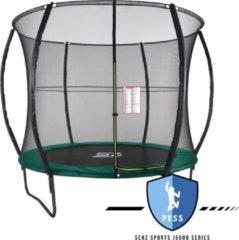 Trampoline - Senz Sports J5000 Series - 244 cm - Groen - trampoline met elastieken