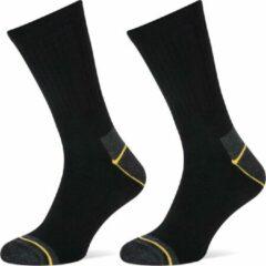 6-Pack Allround Sokken met Frescure Stapp Yellow - Allround 4410.699 - Zwart - Unisex - Maat 43-46