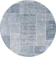 Veercarpets Vloerkleed Mijnen - Rond - ø120 cm - Groen - Patchwork