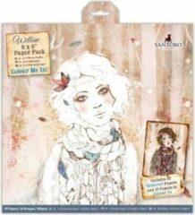 Docraft 6 x 6 Inch Colour Me In Papierpak (32-pak) - Santoro