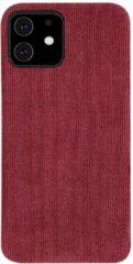 Able & Borret Smartphone hoesje | Telefoon hoesje | Corduroy look | Stofdicht | Rood | iPhone 11