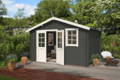 Outdoor Life Products Outdoor Life | Blokhut Arvid 300 | Carbon Grey | 400x320 cm