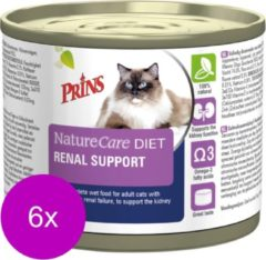 6x Prins Prins NatureCare Diet Renal Support Kat Natvoer 200 gr
