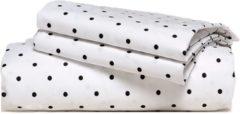 Antraciet-grijze Van Morgen – Dotted Charm - Dekbedovertrek set - 100% Percal katoen – Wit / antraciet gestippeld – 200 x 220 cm