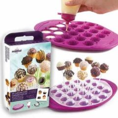 Donkerrode Mastrad Cupcake Pop Molds - Giftset - Berry