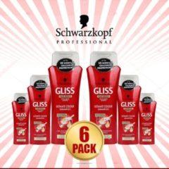 Merkloos / Sans marque Schwarzkopf Gliss Hair Repair Ultimate Colour Shampoo 250ml - 6 Pack Voordeelverpakking