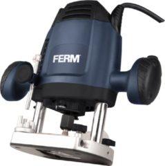 FERM PRM1021 Bovenfrees 6, 8 mm - 1200W – Variabele snelheid – 3m kabel - Incl. 3-delige frezenset, kopieerring, parallelgeleider en passerpunt