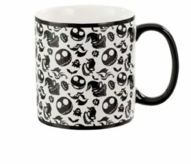 Witte ABYSTYLE Nightmare Before Christmas: Oogie, Jack and Zero 20 oz Mug