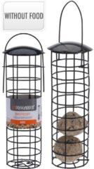 Zwarte Animal King Vogelvoerhouder - Buitenvogels - incl. 12 mezenbollen