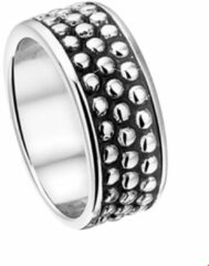 The Jewelry Collection Ring Zwart Epoxy - Zilver