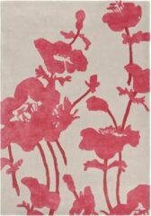 Florence Broadhurst - Floral 300 39600 Vloerkleed - 120x180 cm - Rechthoekig - Laagpolig Tapijt - Klassiek, Landelijk - Grijs, Roze